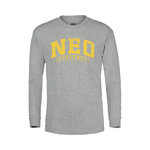 YOUTH LS TEE IN GREY WITH NEO